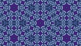 De gloeddeeltjes vormen overladen patroon zoals mandala Abstracte naadloze animatie als science fictionpatroon voor HUD-het scher stock video