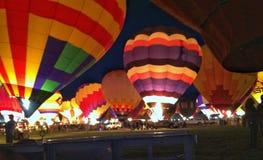 De gloeiende Ballons van de Hete Lucht Royalty-vrije Stock Foto