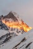 De gloeiende Berg van de Vissenstaart Royalty-vrije Stock Afbeelding