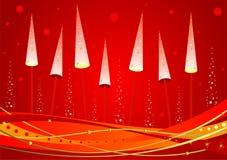 De gloeiende boom van het nieuwjaar Royalty-vrije Stock Afbeeldingen