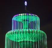 De gloeiende fontein van het nieuwjaar Stock Fotografie
