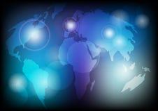 De gloeiende Kaart van de Wereld Stock Afbeeldingen