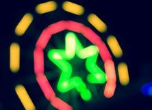 De gloeiende Sterren van het Neon Royalty-vrije Stock Afbeeldingen