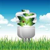 De gloeilamp van Eco in het Gras Royalty-vrije Stock Afbeelding