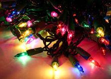 De gloeilamp van Kerstmis stock fotografie