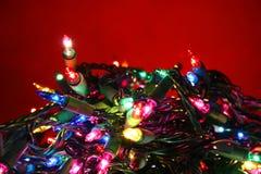 De gloeilamp van Kerstmis royalty-vrije stock fotografie