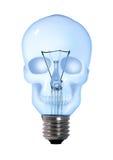De gloeilampenlamp van de schedel Stock Afbeelding