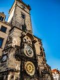 De glorie van de Astronomische Klok van Praag stock fotografie