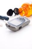 De glucose controlesysteem van het bloed Royalty-vrije Stock Afbeelding