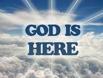 De god is hier. Royalty-vrije Stock Fotografie