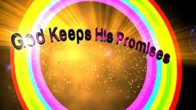 De god houdt Zijn Beloften stock illustratie
