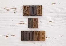 De god is liefde Royalty-vrije Stock Foto's