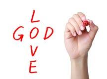 De god is liefde Royalty-vrije Stock Afbeeldingen
