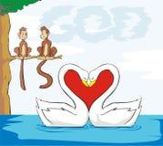 De god is liefde Stock Afbeeldingen