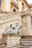 De god van de Rivier Nijl bij het Roman Stadhuis Stock Fotografie
