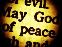De God van mei van vrede? - sluit omhoog royalty-vrije stock afbeelding