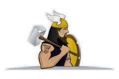 De god van Thor van donder Stock Afbeeldingen