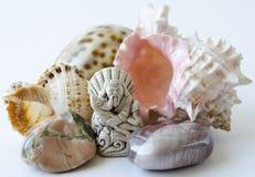de god van visserij en shell Royalty-vrije Stock Foto