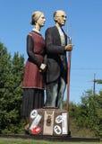 De god zegent het beeldhouwwerk van Amerika door kunstenaar Seward Johnson in Hamilton, NJ Royalty-vrije Stock Foto's