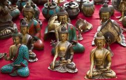De Goden van het Statueofboeddhisme royalty-vrije stock foto's