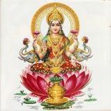 De godin van Lakshmi Stock Afbeeldingen
