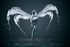 De godin van water wordt gevormd door plonsen van water Royalty-vrije Stock Foto