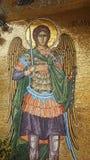 De godsdienst is het beeld van de Heilige in de fresko van Cyprus stock afbeeldingen