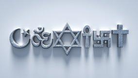 De godsdienst kan coëxisteren wereldvrede Stock Fotografie