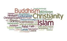 De Godsdiensten van de wereld Stock Afbeeldingen