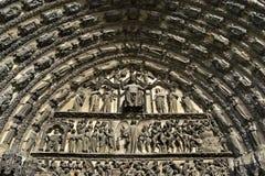 De godsdienstige kathedraal Saint-Etienne van de beeldhouwerkunst Royalty-vrije Stock Foto