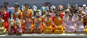 De godsdienstige standbeelden van Thailand Pattaya Stock Afbeeldingen