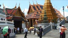 De godsdienstige tempel van Bangkok Thailand stock footage