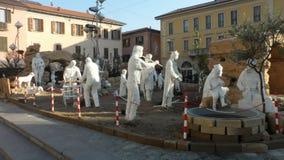 De godsdienstige voederbak Katholiek geloof in Busto Arsizio, Italië royalty-vrije stock afbeeldingen