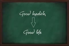 De goede gezondheid leidt tot het goede leven Royalty-vrije Stock Foto