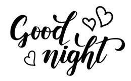 De goede kalligrafie van de nachtborstel royalty-vrije illustratie
