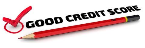 De goede Score van het Krediet Het vinkje vector illustratie