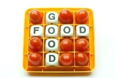 De goede Tomaten van de Kers van het Voedsel Stock Afbeeldingen