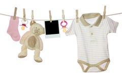 De goederen en de foto van de baby royalty-vrije stock afbeelding