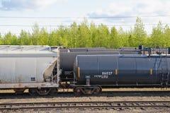 De goederenwagonnen van het spoor royalty-vrije stock afbeeldingen