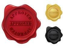 De goedgekeurde zegels van de wasverbinding Stock Fotografie