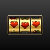 De gokautomaat van de liefde. Vector. Royalty-vrije Stock Foto
