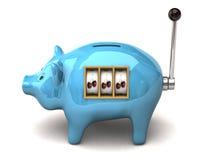 De gokautomaat van Piggy royalty-vrije illustratie