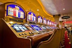 De Gokautomaten van Vegas Stock Foto's