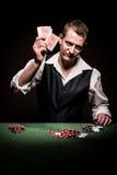 De gokker is gefrustreerd stock afbeelding