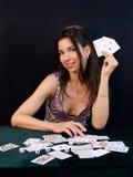 De gokker wint royalty-vrije stock afbeelding