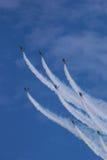 De Golden Eagles van ROKAF t-50 in vorming Stock Afbeelding