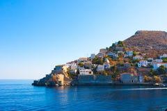 De Golf Griekenland van Saronikos van het Eiland van Hydra royalty-vrije stock foto