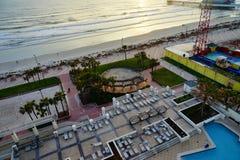 De golf van Daytona Beach in de ochtend Stock Foto