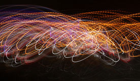 De golf van de gloedenergie verlichtingseffect abstract beeld als achtergrond Royalty-vrije Stock Foto