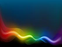 De golf van de regenboog Stock Foto